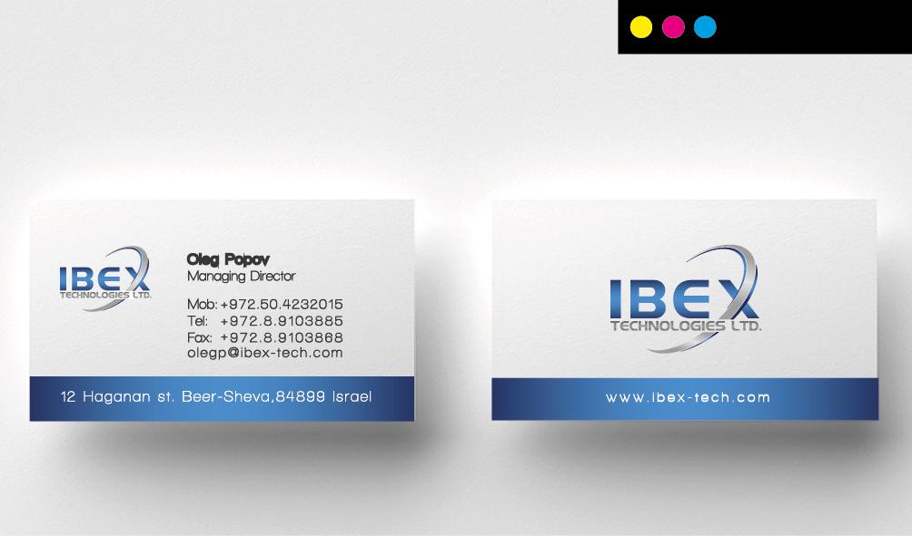 ibex -הדפסת כרטיסי ביקור